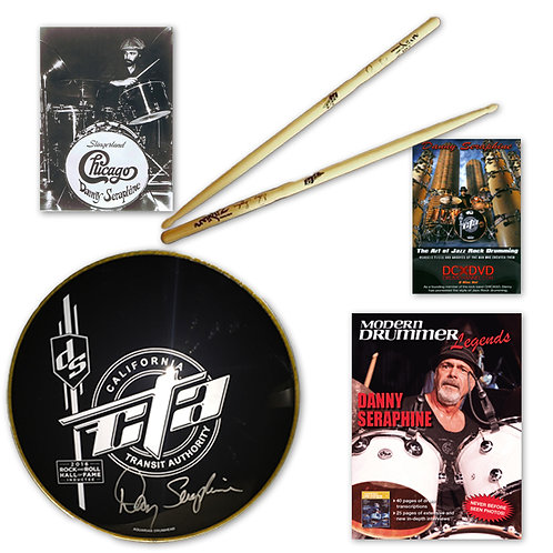 The Ultimate Danny Seraphine gift bundle! With New Sticks!