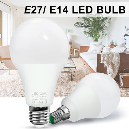 LED Warm White Bulb [E27 & E14]