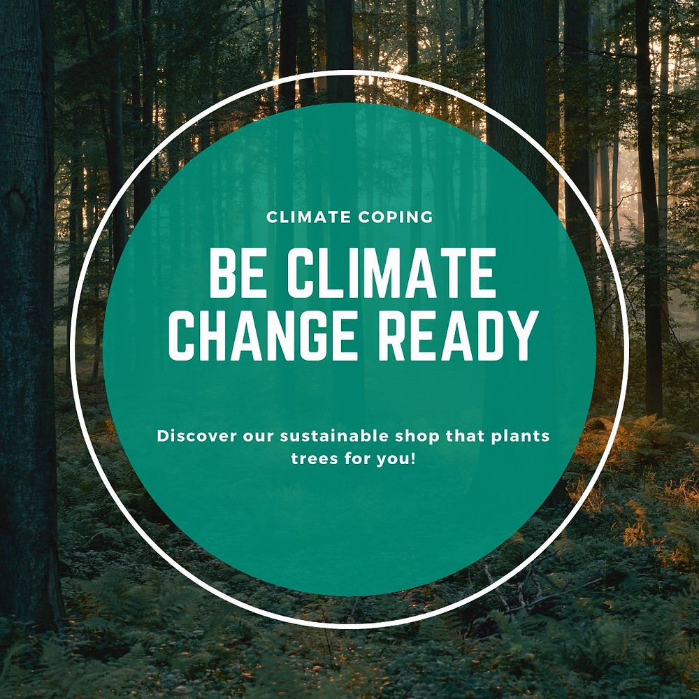 Infographics. Be Climate Change Ready. Instagram Sustainable Shop Green. Global Warming. Tree Planting. Climate Coping.
