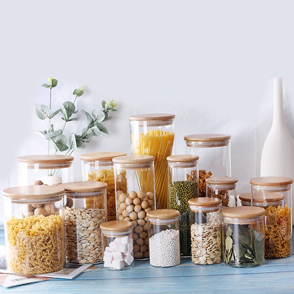 Food Containers [Bamboo & Glass]