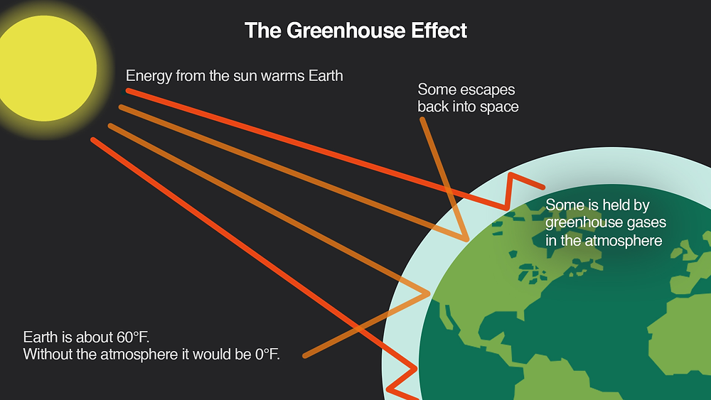 Infographics. Explanation of the Greenhouse effect on the planet. Global Warming. Climate Coping.
