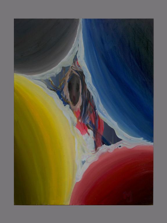 "Heroic Girl, 2021, oil on canvas, 23x31""."