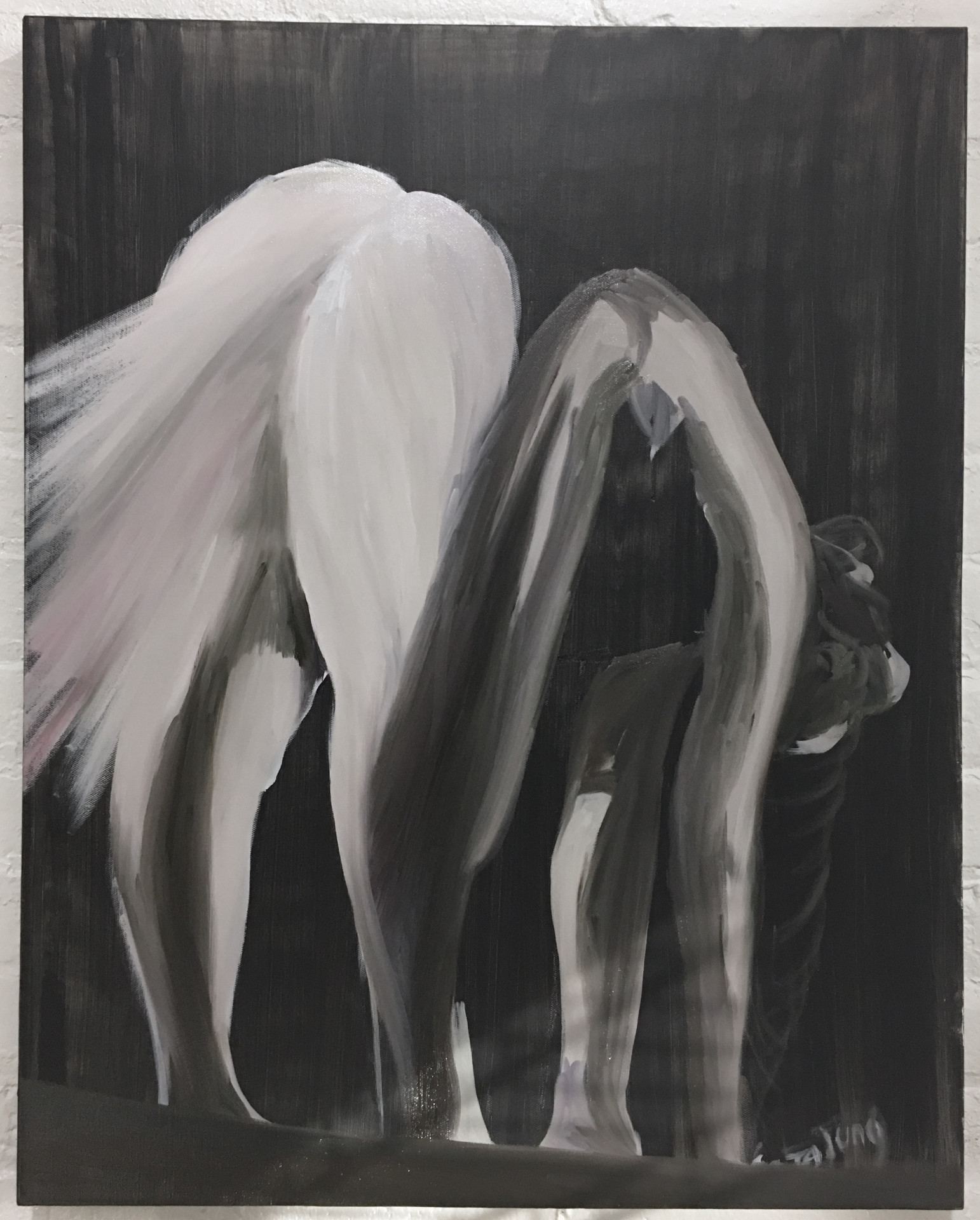 Farting on All Fours, 24x30inches, oil on canvas, 2018