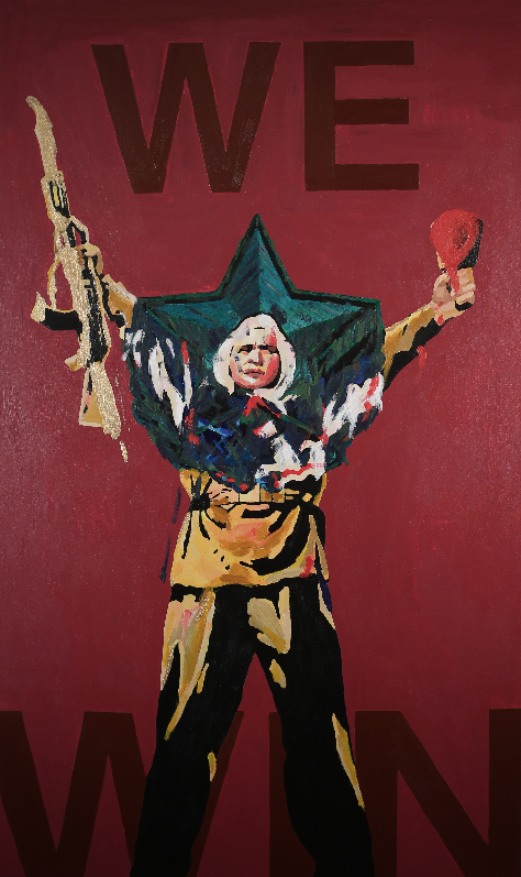 WE WIN, 60x36 inches, acrylic on canvas, 2014