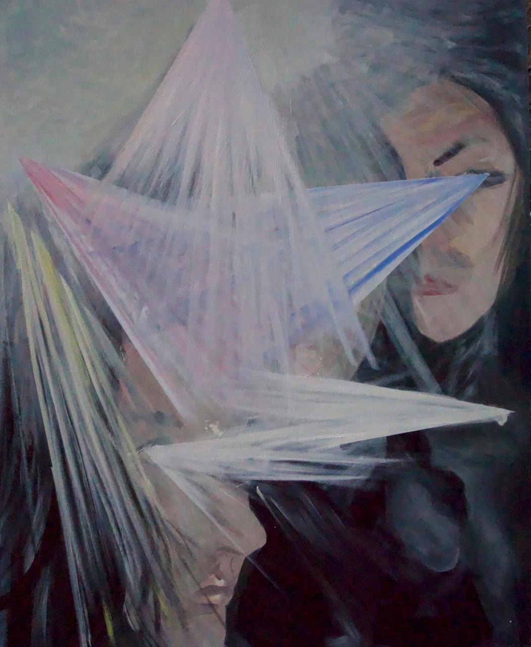 white mountain, 31x38inches, oil on canvas, 2020