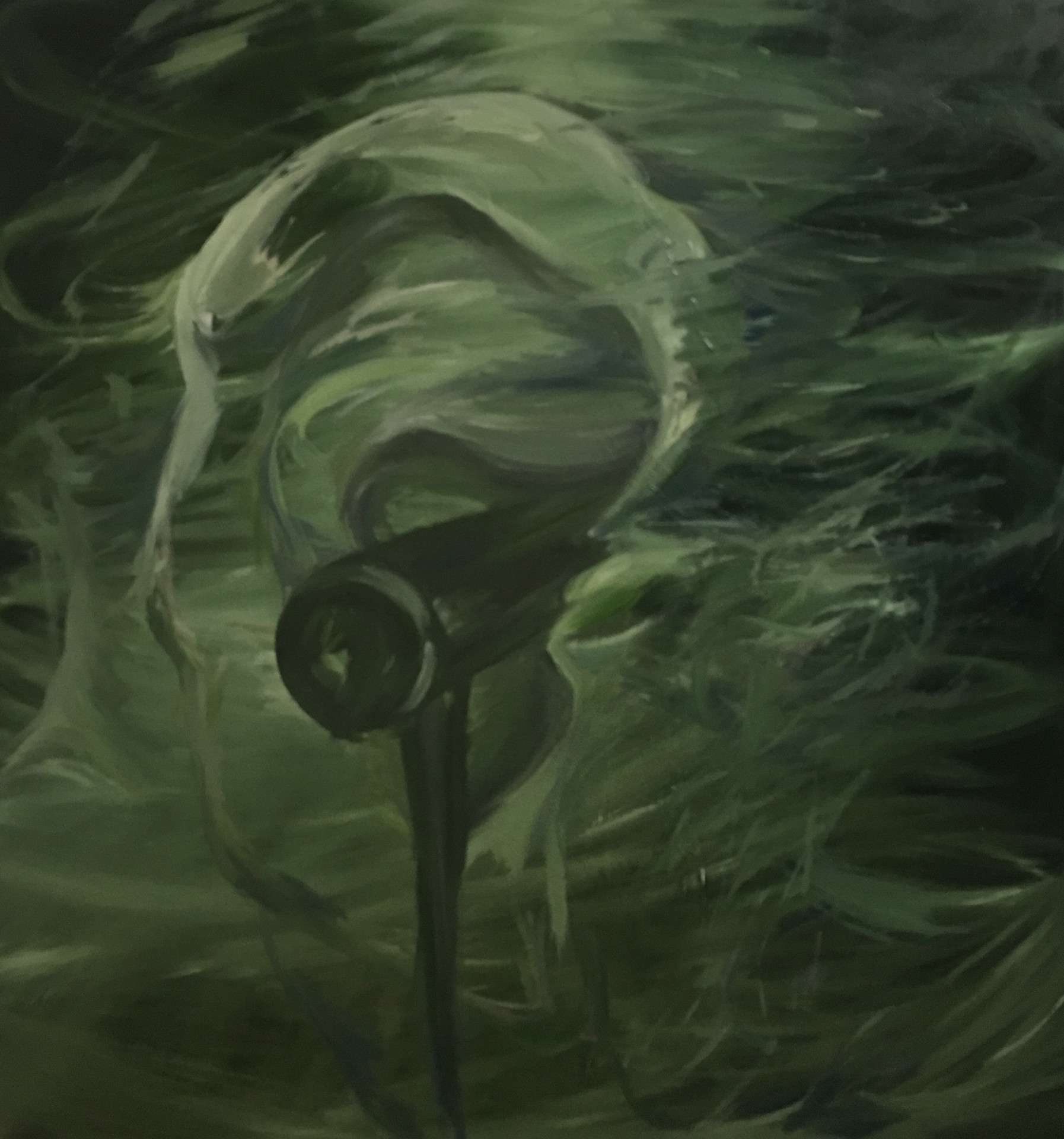 Green Echo, 34x36inches, oil on canvas, 2018,