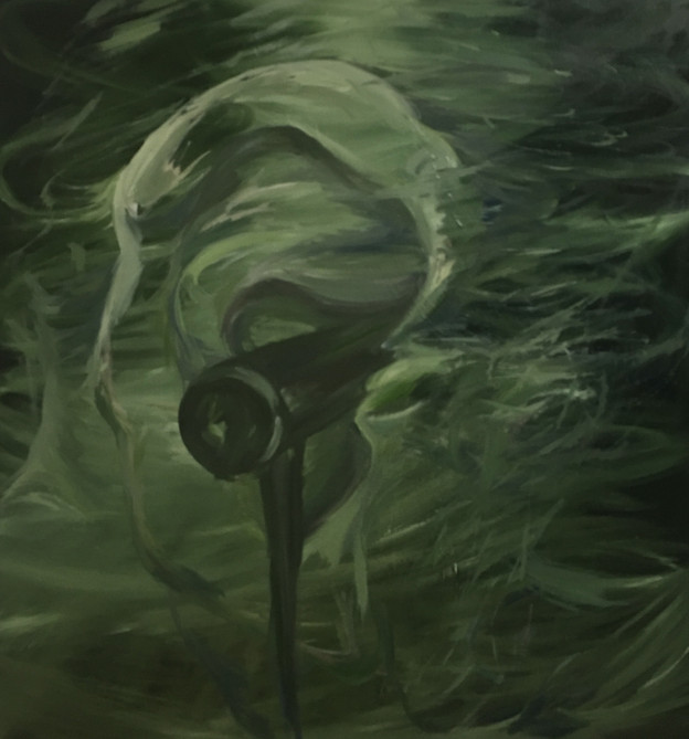 Green Echo, 34x36inches, oil on canvas, 2018