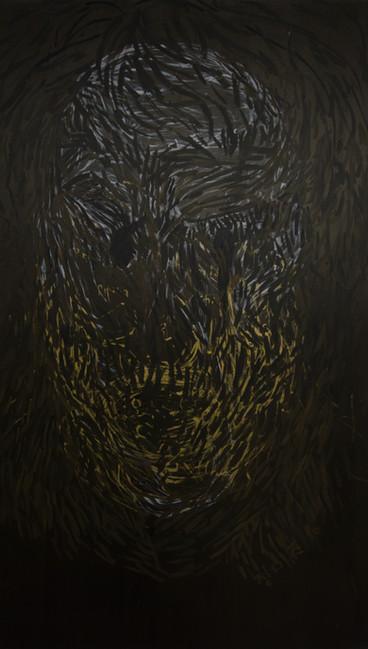 black hole, 60x36inches, acrylic on canvas, 2016
