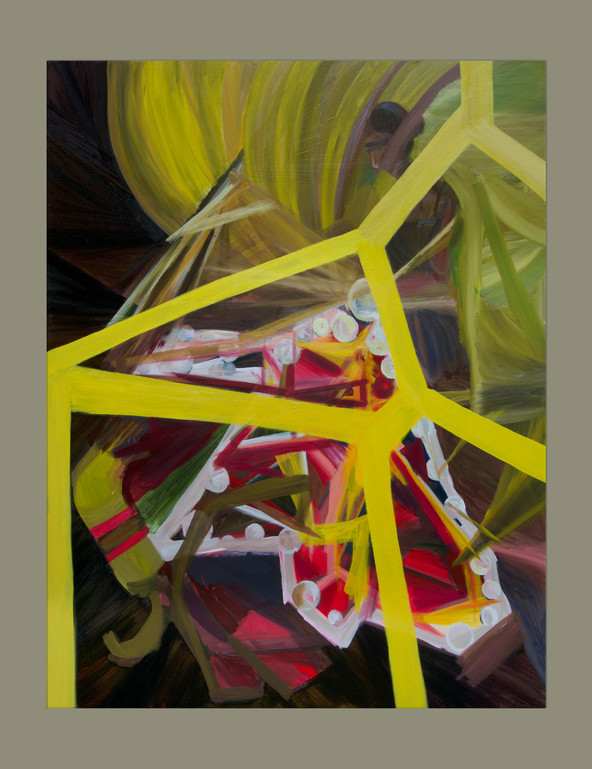 """Their Carriage, 2021, oil on linen, 48x60""""."""