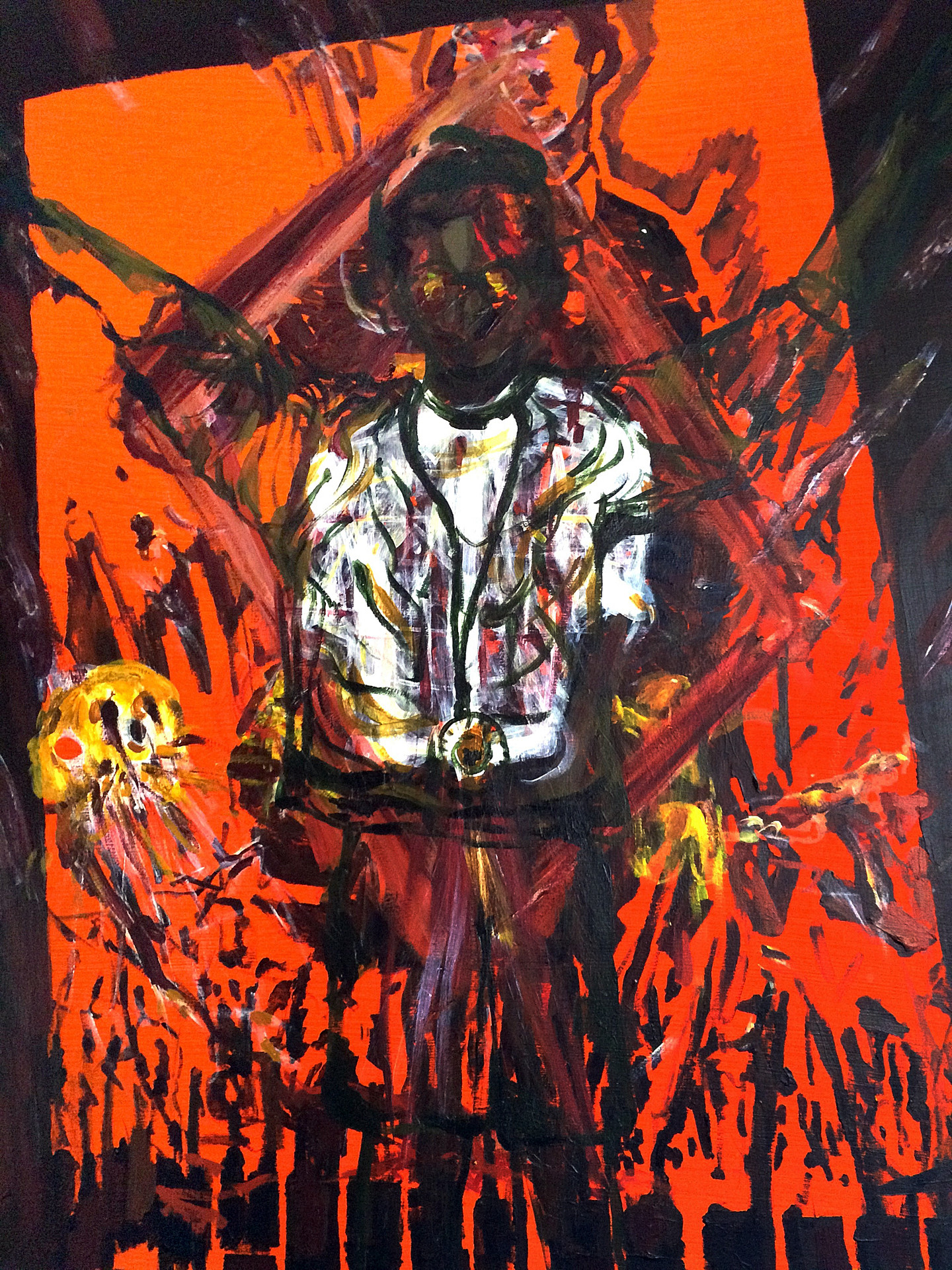 boy soldier, 40x34 inches, acrylic on canvas, 2015