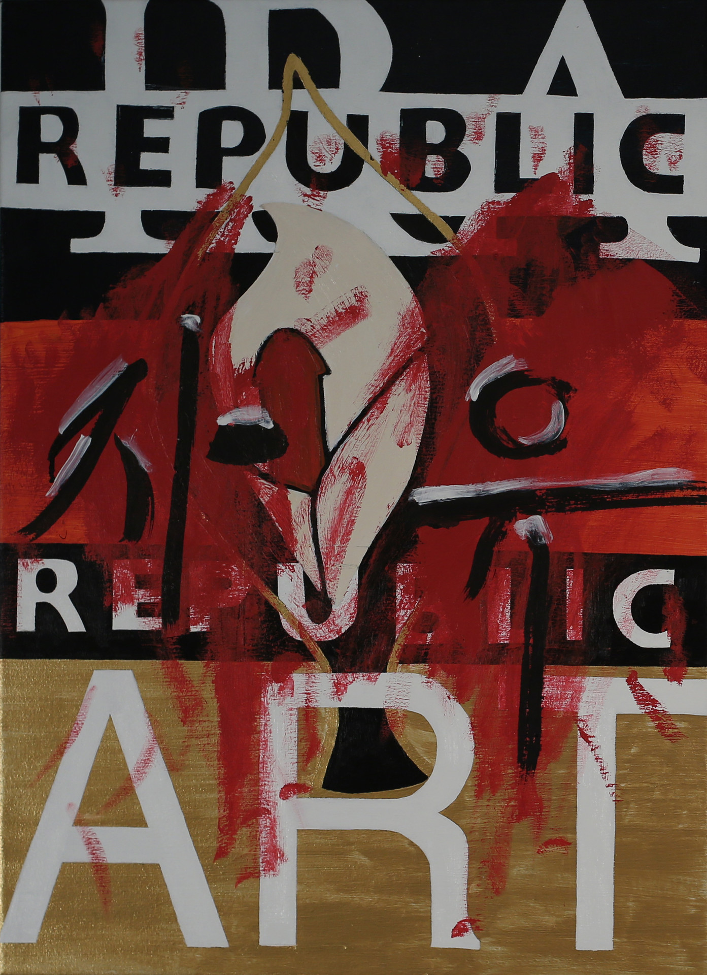 REPUBLIC, 30x22 inches, acrylic on canvas, 2014