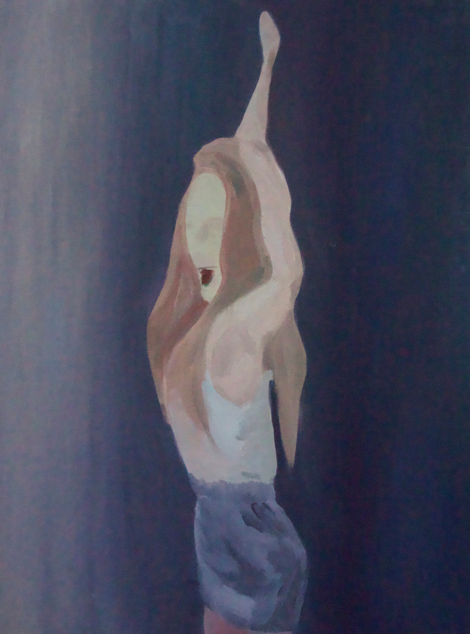 typical girl,  23x31inches, oil on canvas, 2020