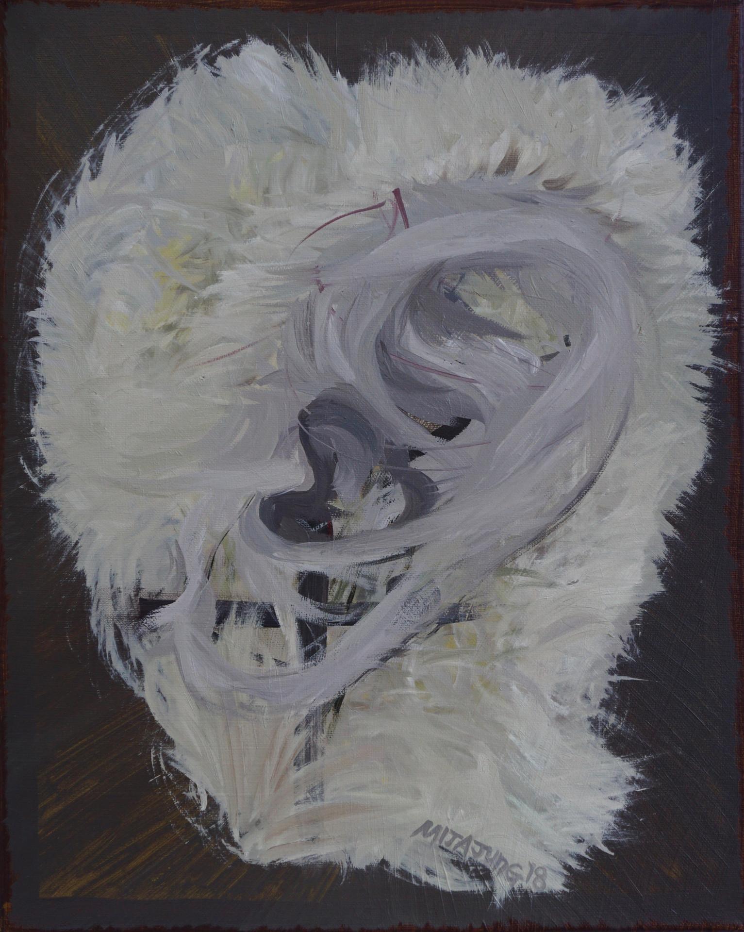 Soft Cactus Listener, 16x20inches, oil on canvas, 2018DSC01518.jpg