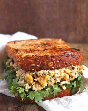 Vegan Chickpea Sandwich - Shradha Rawat Photography