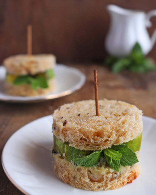 Cucumber Mint Tea Sandwich - Shradha Rawat Photography