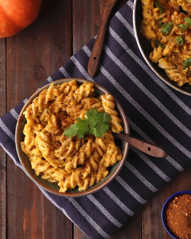 Vegan Pumpkin Pasta - Shradha Rawat Photography