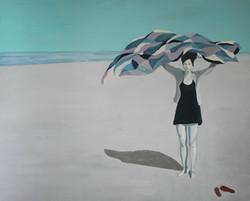 Plaża V, 100/80, akryl, 2011