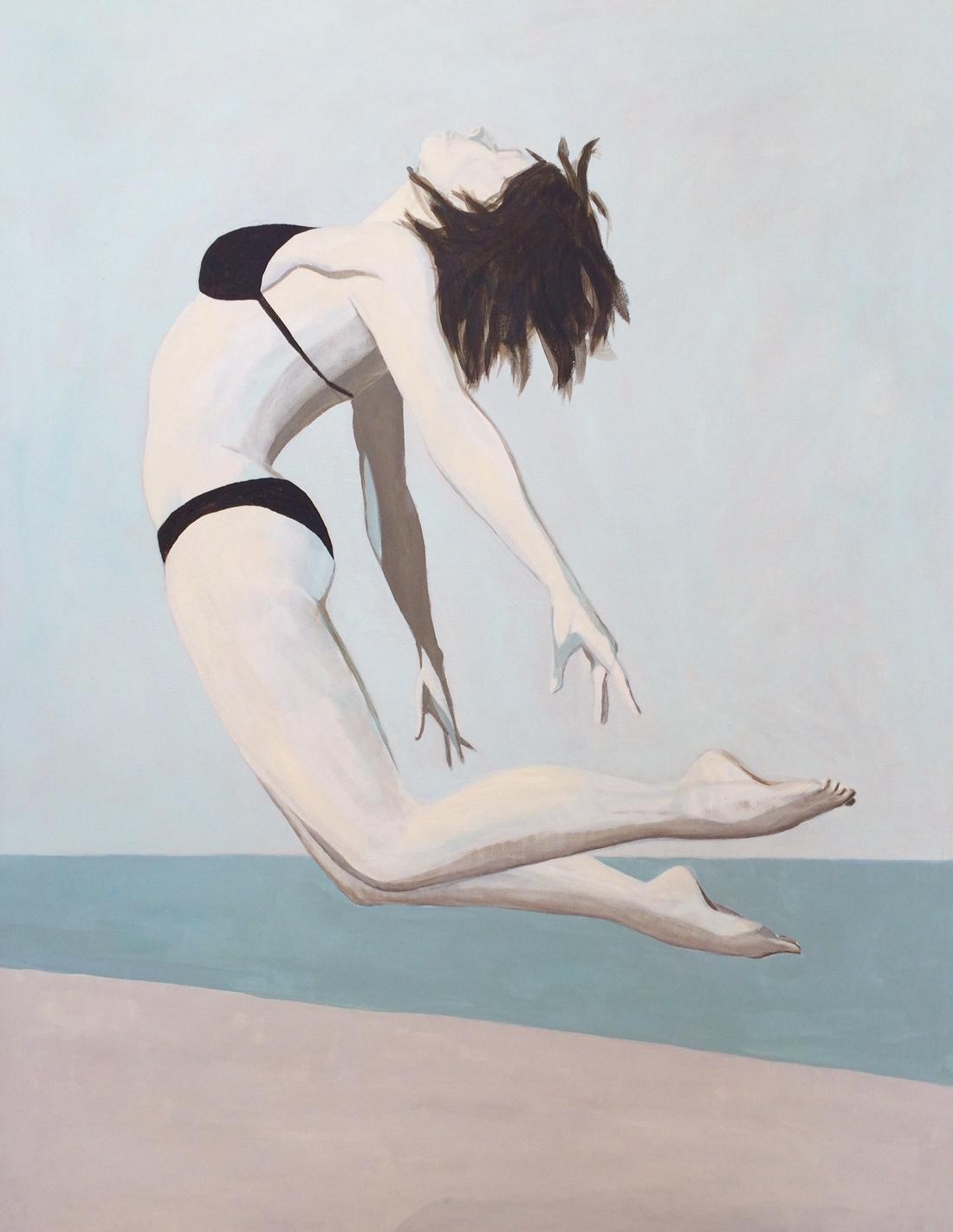 Plaża XI, 90/70, akryl, 2016