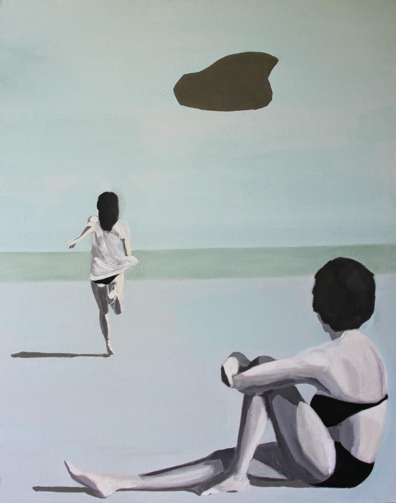 Plaża I, 90/70, akryl, 2011
