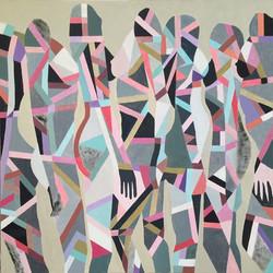 kobieca geometria IV, 90/90, akryl