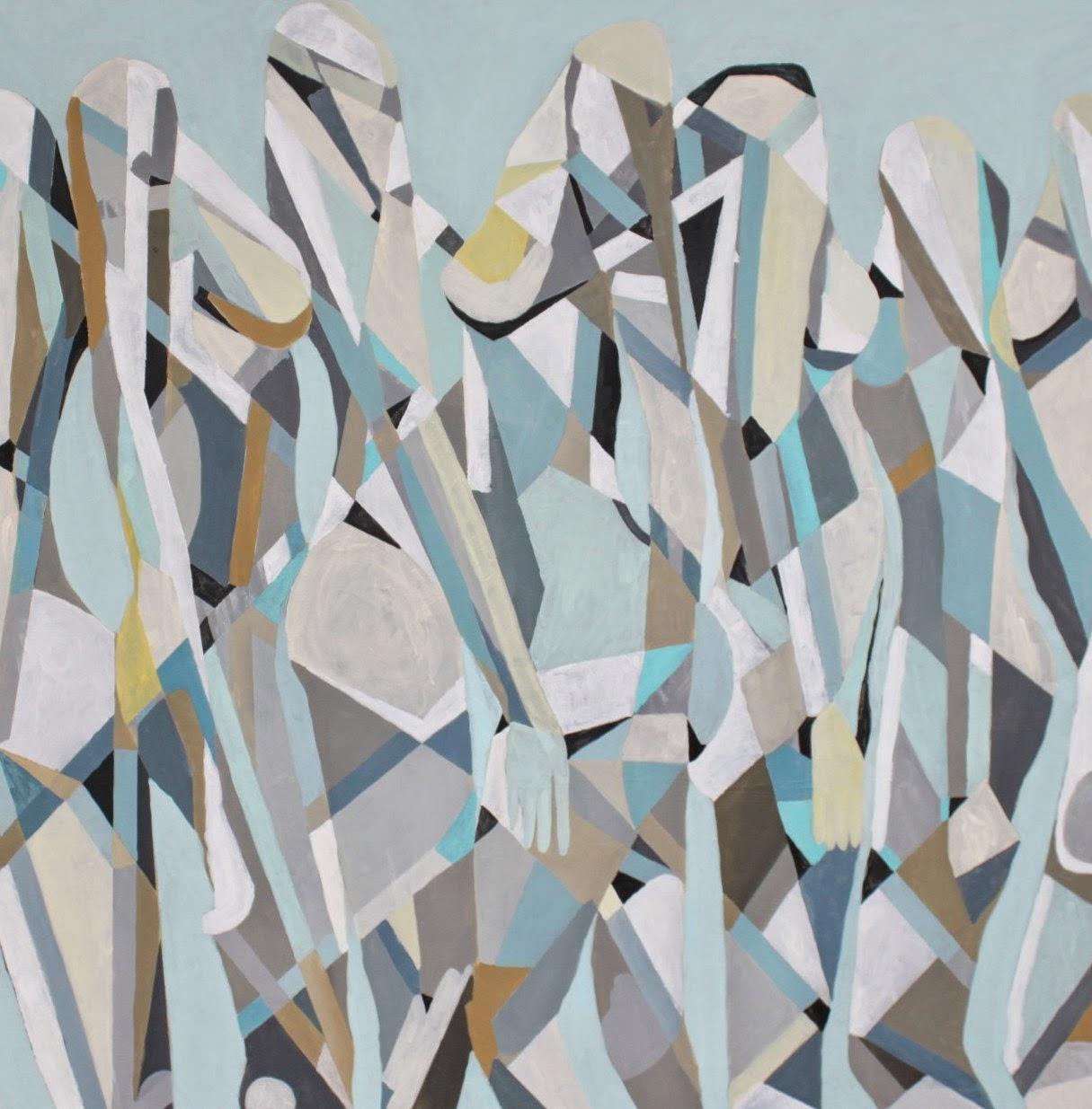 kobieca geometria II, 90/90cm, akryl