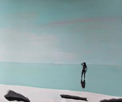 Plaża III, 120/100, akryl, 2011