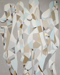 Kobiety XIV, 100/80cm, akryl 2016