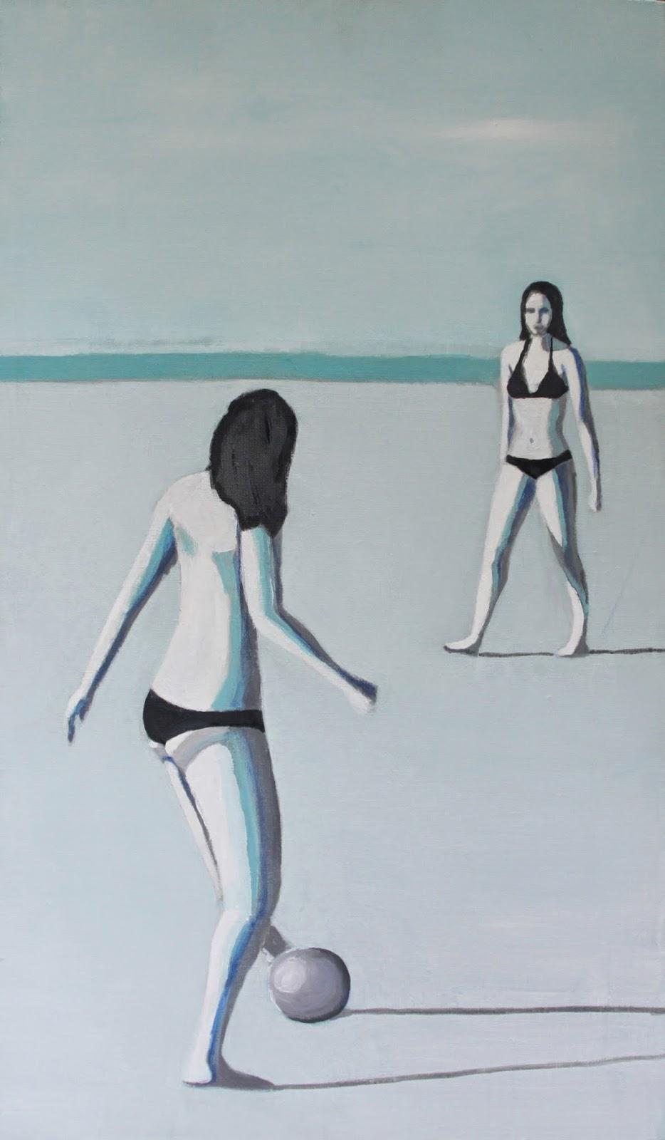 Plaża V, 70/40, akryl, 2011