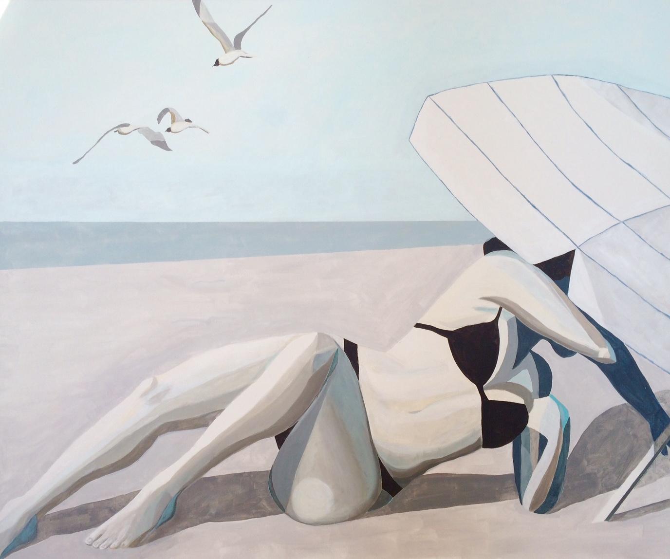 Plaża X, 120/100, akryl, 2016