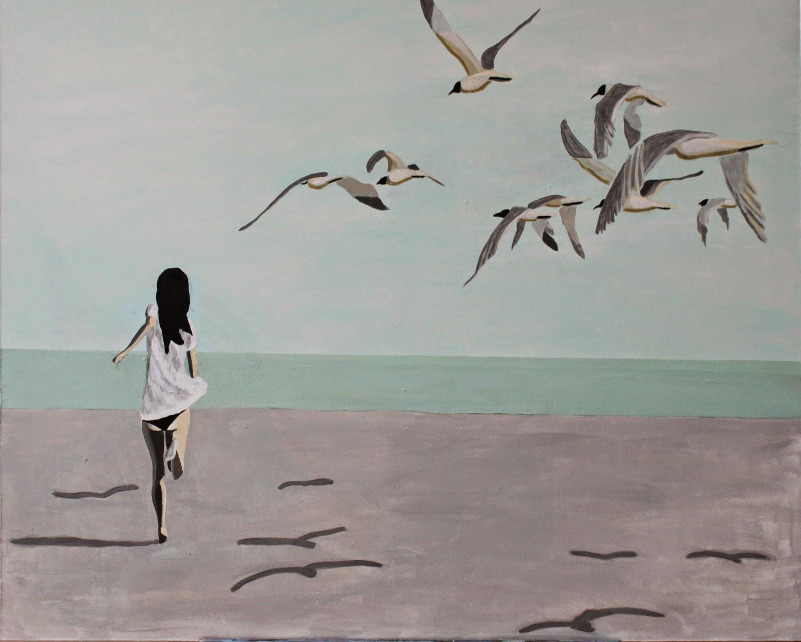 Plaża IX, 90/70, akryl, 2015