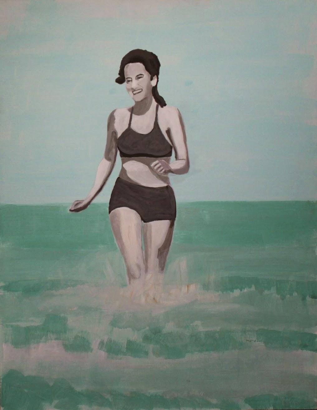 Plaża, 90/70, akryl, 2011