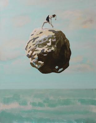 Plaża XIII, 90/70, akryl, 2016