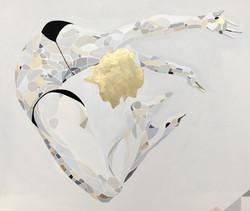 Dzikosc serca II, 120/100cm, 2018,akryl