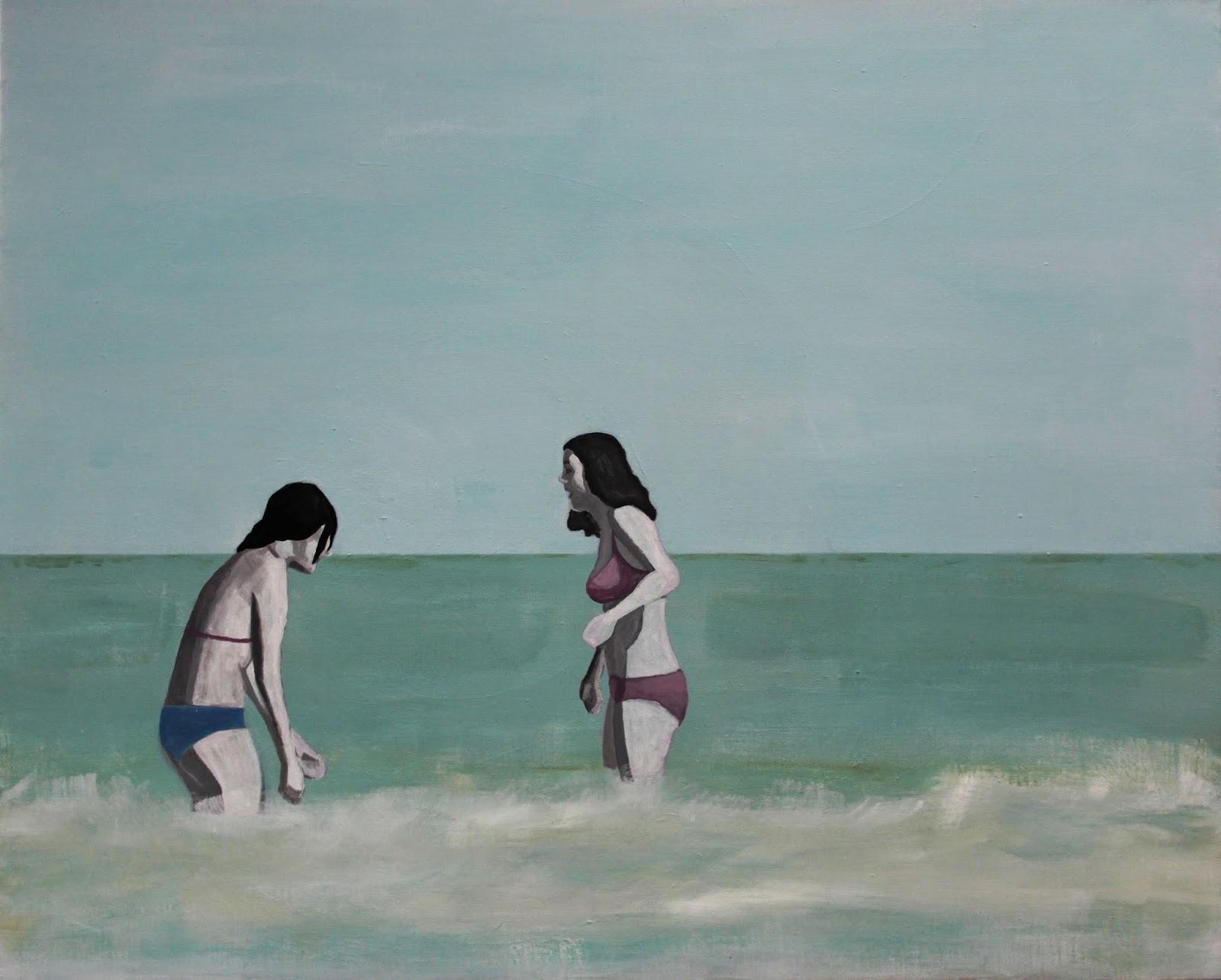 Plaża IV, 100/70, akryl, 2011