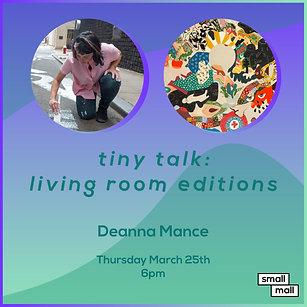 $5 Ticket for Deanna Mance talk
