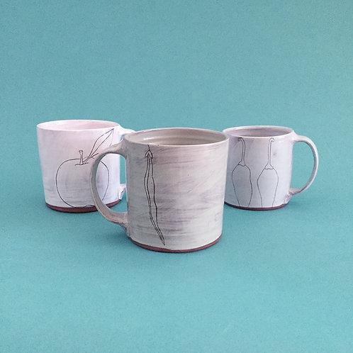 Earthenware Mugs by Jenna Vanden Brink