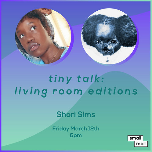 $15 ticket for Shori Sims talk