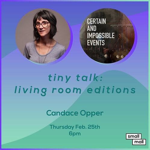 $15 ticket for Candace Opper talk