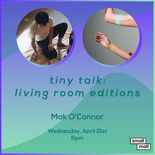 $5 Ticket for Mak O'Connor talk