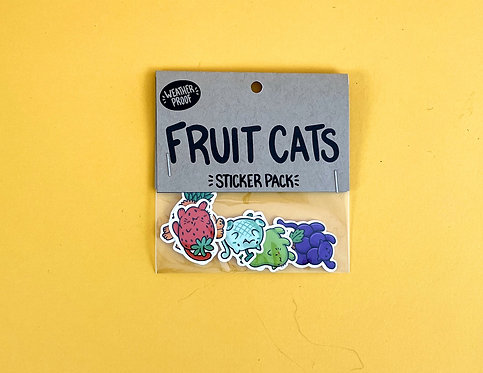 Fruit Cats Sticker Pack by Emily McGaughey
