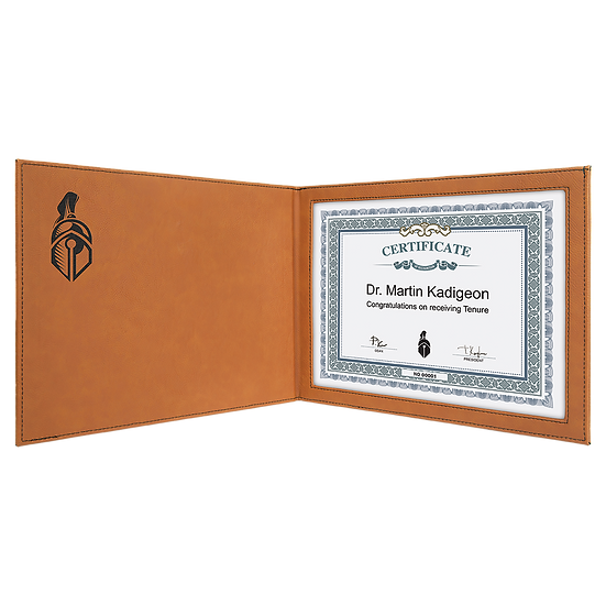 Rawhide  Leatherette Certificate Holder