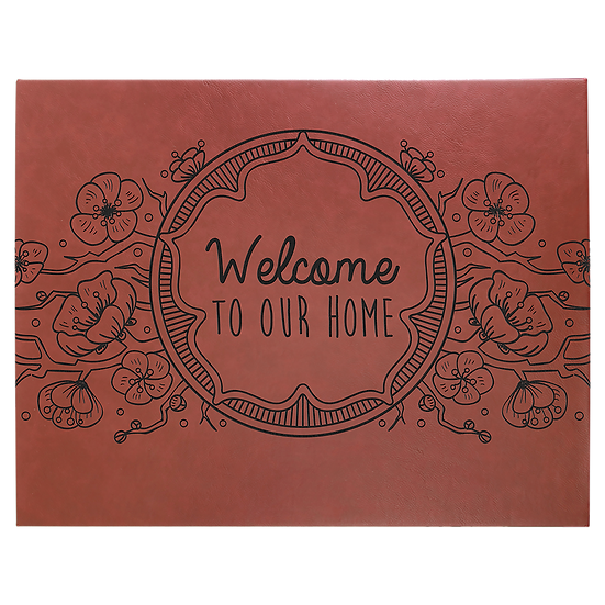 "Rose' 16"" x 20"" Leatherette Wall Decor/Signage with Sawtooth Hanger"