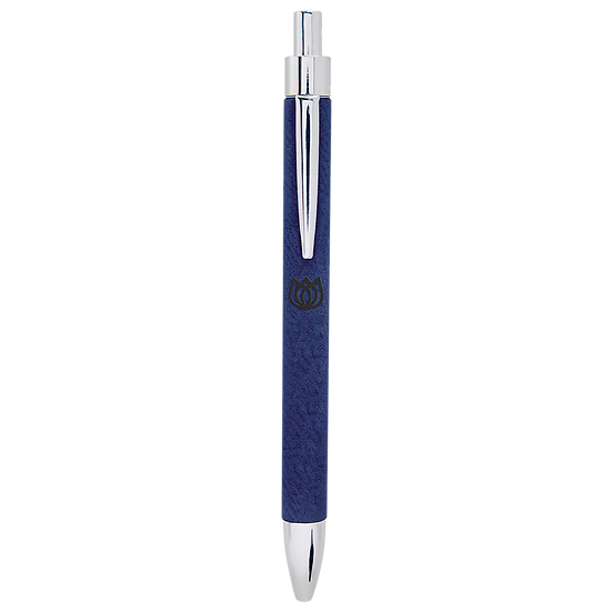Blue/Black Leatherette Pen