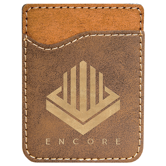 Rustic/Gold Leatherette Phone Wallet