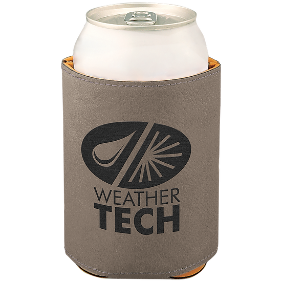 Gray Leatherette Beverage Holder