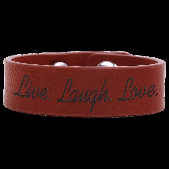 Rose' Leatherette Cuff Bracelet