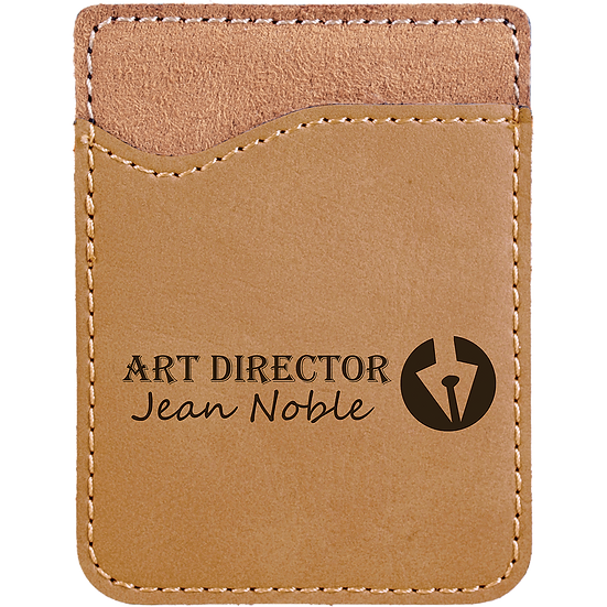 Light Brown Leatherette Phone Wallet