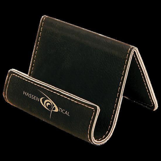 Black/Gold Leatherette Holder/Easel