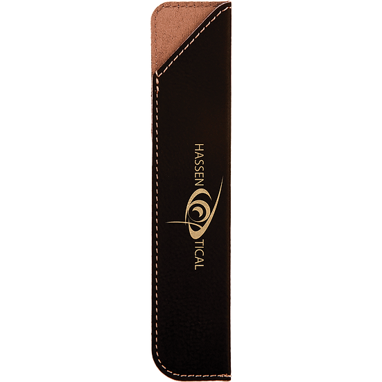 Black/Gold Leatherette Pen Sleeve