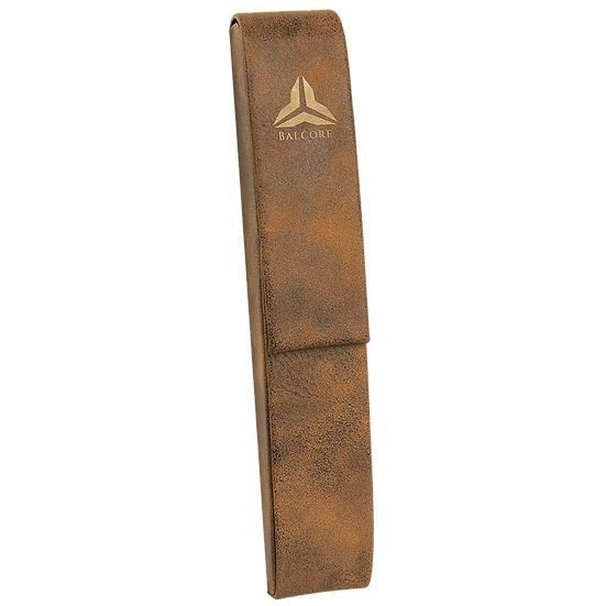 Rustic/Gold Leatherette Single Pen Case